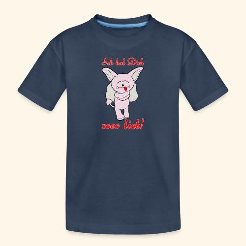 Zwergschlammelfen - Ich hab Dich so lieb! - Teenager Premium Bio T-Shirt