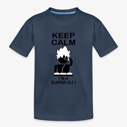 KEEP CALM SUPER DJ B&W - T-shirt bio Premium Ado