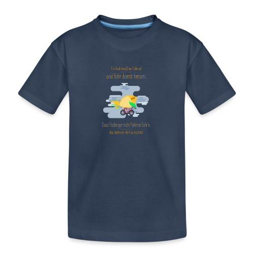 Der Fahrrad-Fisch - Teenager Premium Bio T-Shirt
