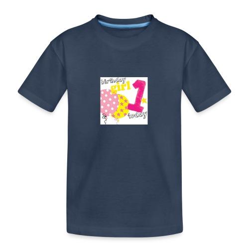 1 today birthday girl - Teenager Premium Organic T-Shirt