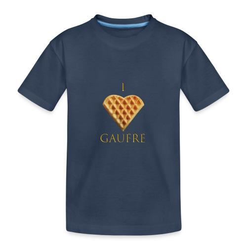 i love gaufre - T-shirt bio Premium Ado