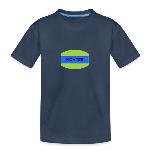 Kovari Logo - Teinien premium luomu-t-paita