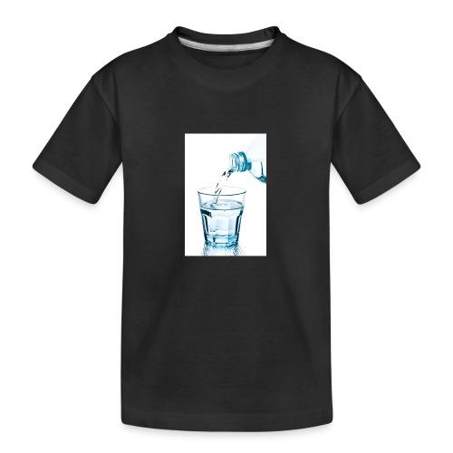 Glas-water-jpg - Teenager premium biologisch T-shirt