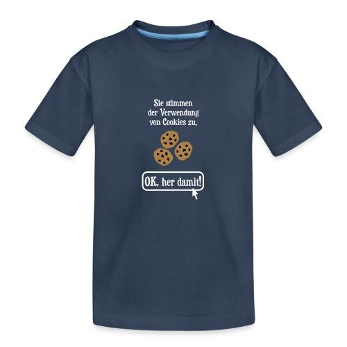 Cookie Hinweis Internet Nerd Spruch - Teenager Premium Bio T-Shirt