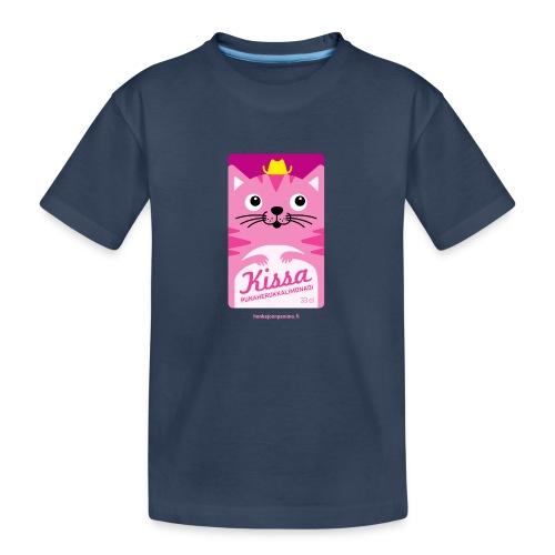 Kissa - Teinien premium luomu-t-paita