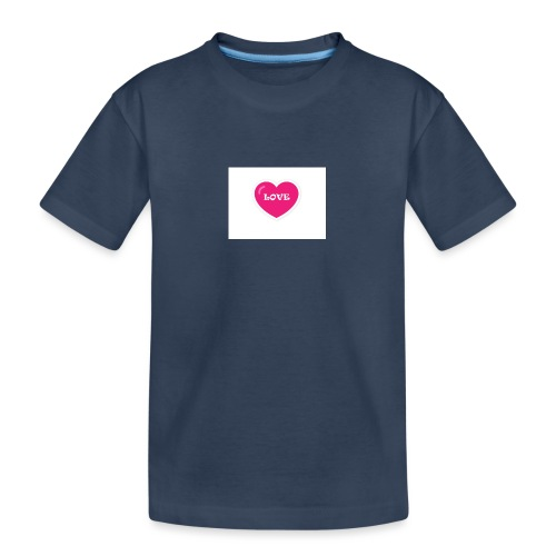 Spread shirt hjärta love - Ekologisk premium-T-shirt tonåring