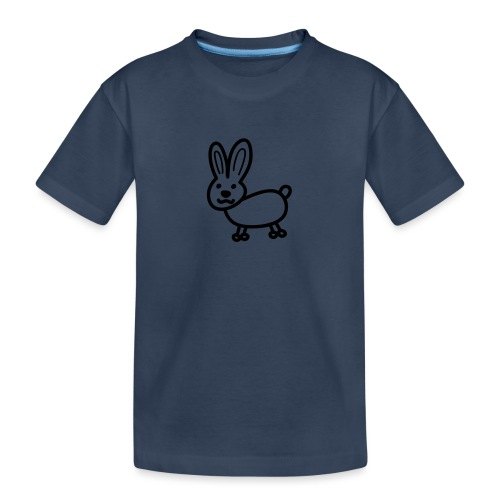 Hase Comicfigur - Teenager Premium Bio T-Shirt