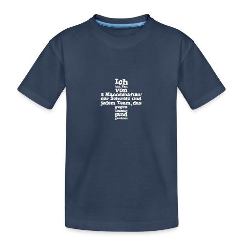 Fan von zwei Mannschaften - Teenager Premium Bio T-Shirt