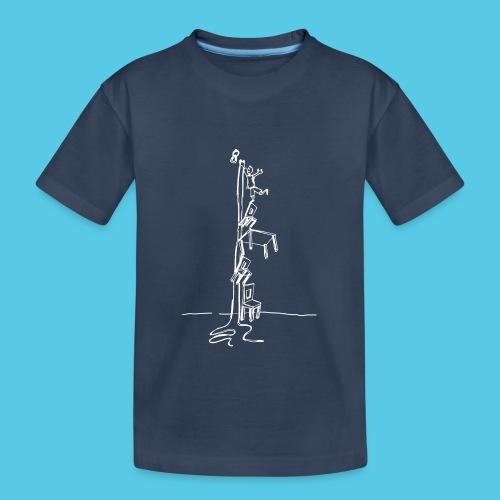 der erste Haken - Teenager Premium Bio T-Shirt