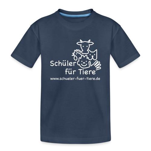 Logo Weiß (2x) - Teenager Premium Bio T-Shirt
