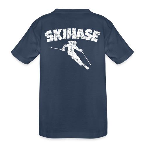 Skihase (Vintage/Weiss) Ski Skifahrerin - Teenager Premium Bio T-Shirt