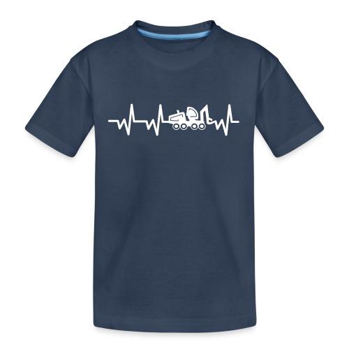 Forst | Herzschlag weiß - Teenager Premium Bio T-Shirt