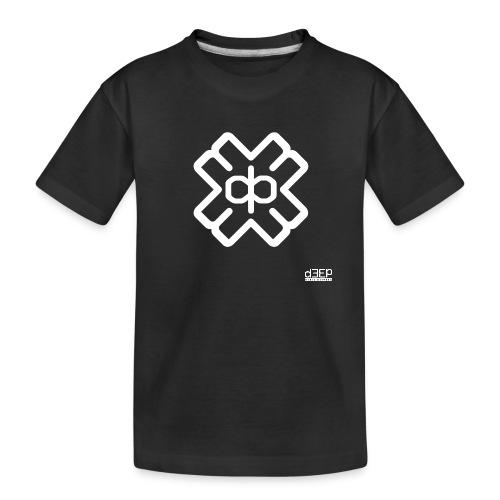 d3eplogowhite - Teenager Premium Organic T-Shirt