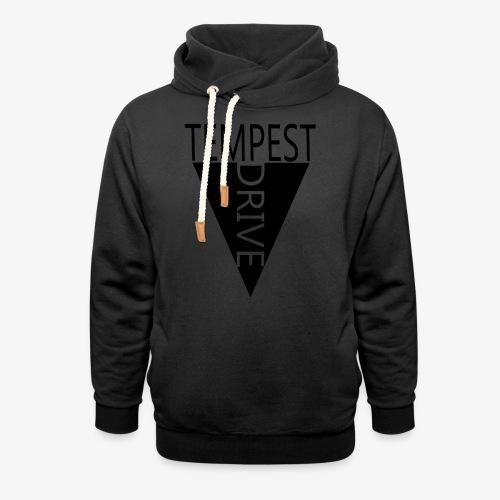 Komprimeret logo - Unisex hoodie med sjalskrave