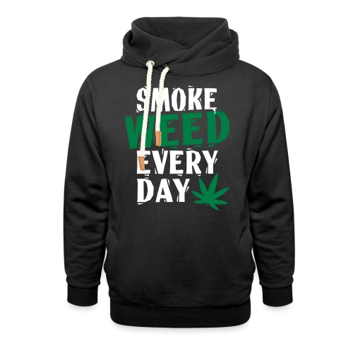 Smoke Weed Everyday Linovert - Sweat à capuche cache-cou