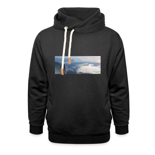 Flugzeug Himmel Wolken Australien - Schalkragen Hoodie