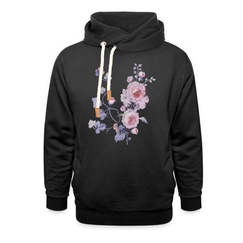 Schlichte Blumen - Schalkragen Hoodie