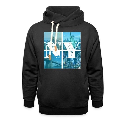 NEW YORK BLUE - Schalkragen Hoodie