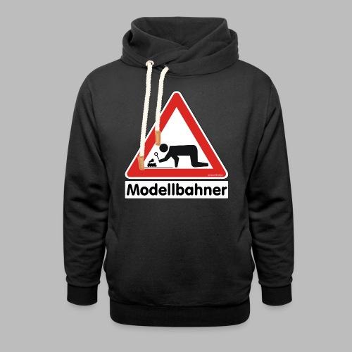 Warnschild Modellbahner Dampflok - Schalkragen Hoodie