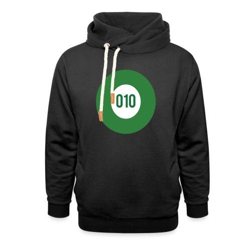 010 logo - Unisex sjaalkraag hoodie