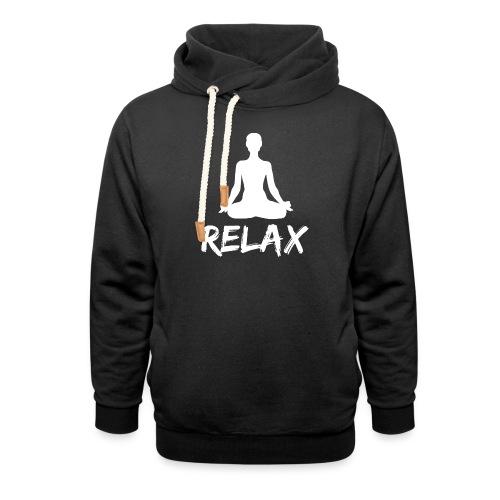 Relax white - Schalkragen Hoodie