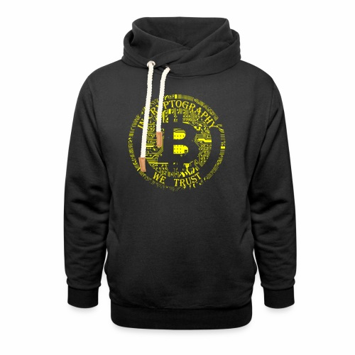 In cryptography we trust 2 - Shawl Collar Hoodie