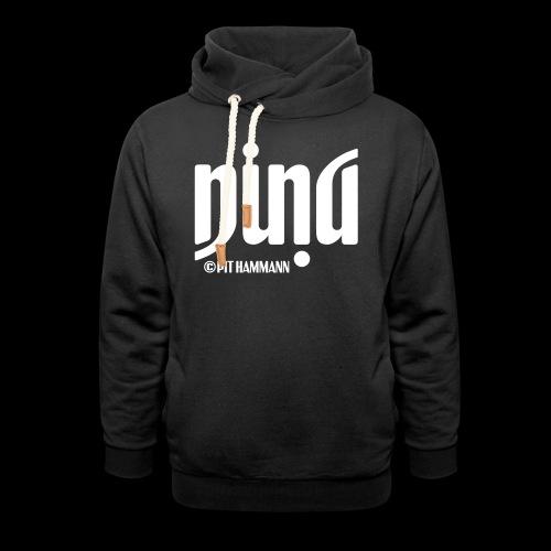 Ambigramm Nina 01 Pit Hammann - Unisex Schalkragen Hoodie