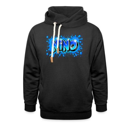 Graffiti NINO splash blue - Sweat à capuche cache-cou