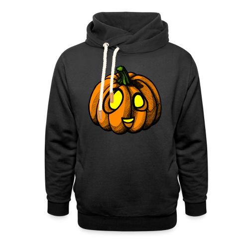 Pumpkin Halloween scribblesirii - Unisex hoodie med sjalskrave