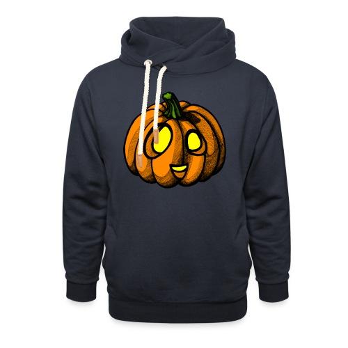 Pumpkin Halloween scribblesirii - Hoodie med sjalskrave