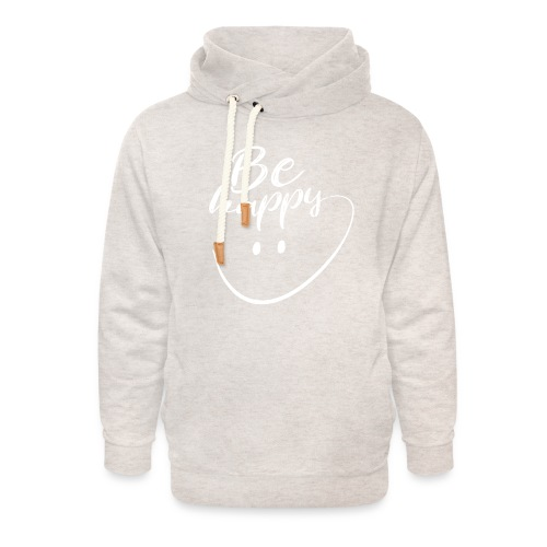 Be Happy With Hand Drawn Smile - Unisex Shawl Collar Hoodie