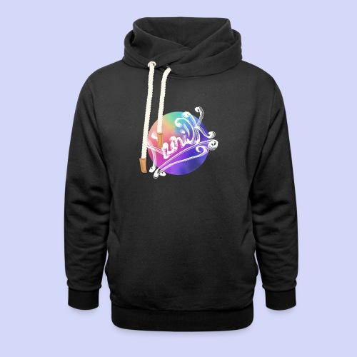 pastel rainbow, NuniDK Collection - Female top - Unisex hoodie med sjalskrave