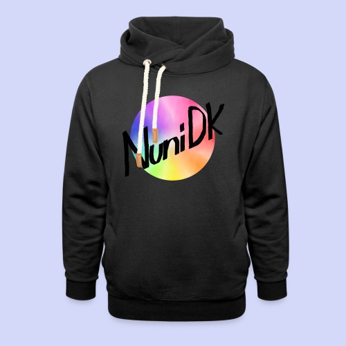 Rainbow shade, NuniDK Collection - Female top - Hoodie med sjalskrave