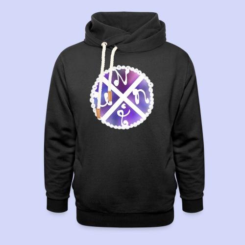 Nuni! cross, NuniDK Collection - Female top - Unisex hoodie med sjalskrave