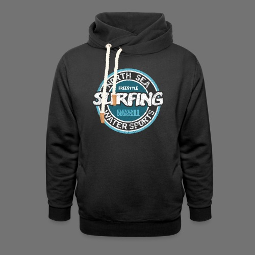 North Sea Surfing (oldstyle) - Shawl Collar Hoodie
