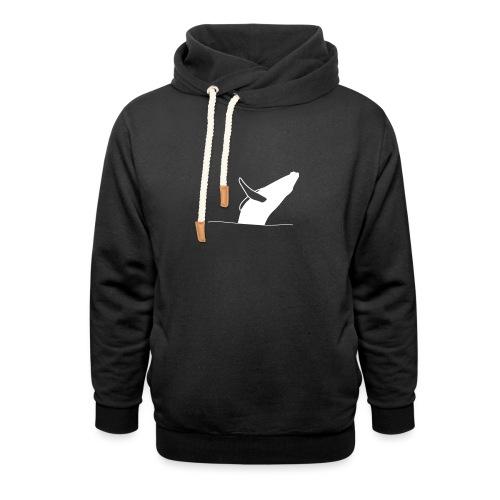 Jumping whale - white - Unisex Schalkragen Hoodie