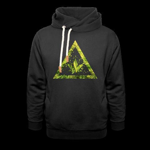 Marijuana Cannabisblatt Triangle with Splashes - Schalkragen Hoodie
