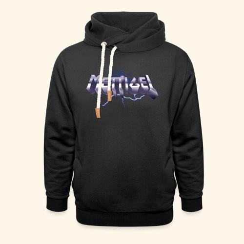 Mettigel T Shirt Design Heavy Metal Schriftzug - Unisex Schalkragen Hoodie