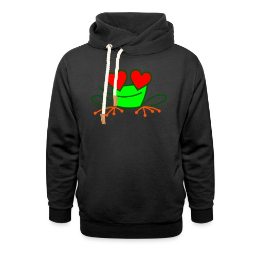 Frog in Love - Shawl Collar Hoodie