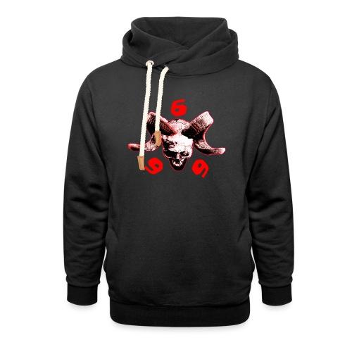 skull 666 - Schalkragen Hoodie
