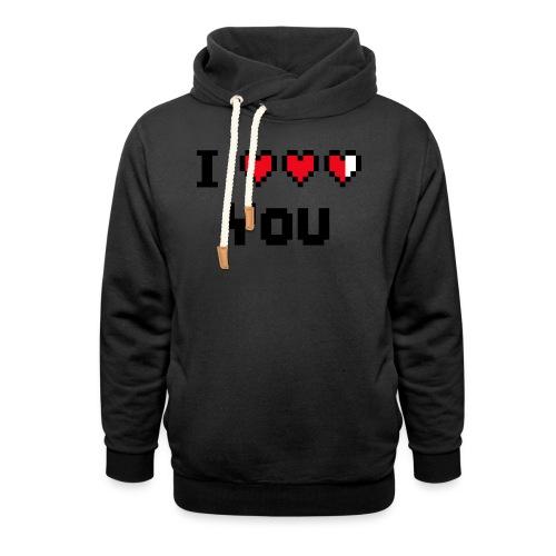 I pixelhearts you - Unisex sjaalkraag hoodie