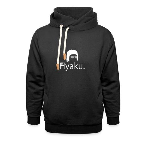 Hyaku White - Unisex hettegenser med sjalkrage