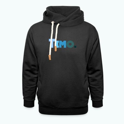 Timo in blauwe tinten - Unisex sjaalkraag hoodie