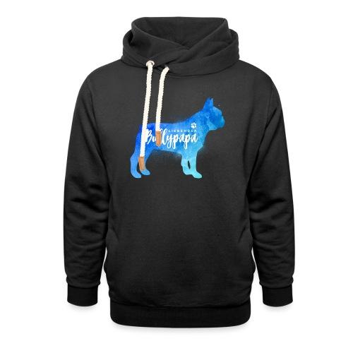 Liebender Bullypapa - Französische Bulldogge - Schalkragen Hoodie