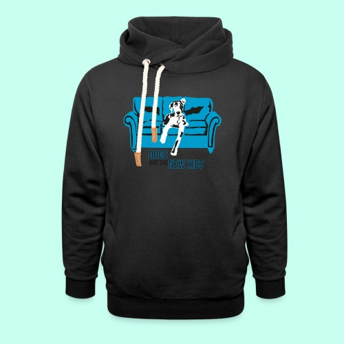 Dogs are the New Kids - Unisex Schalkragen Hoodie