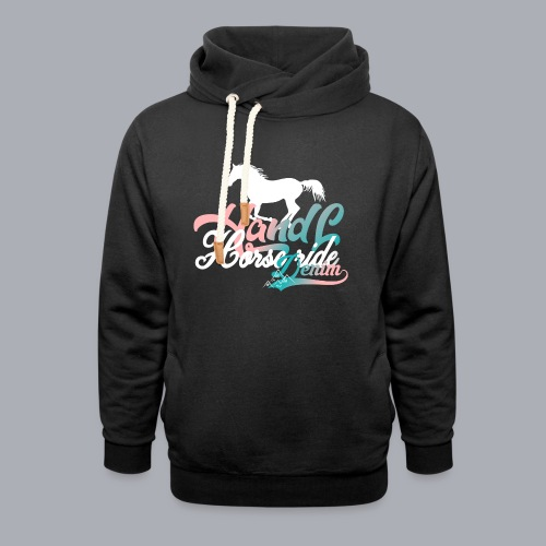 H&L Denim Horse-Ride - Sweat à capuche cache-cou unisexe