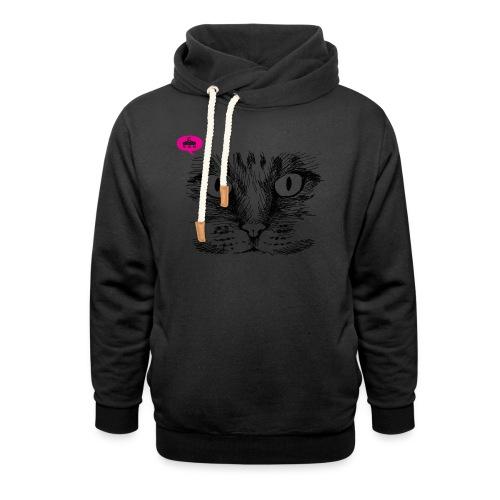 kattegezicht vdh - Unisex sjaalkraag hoodie
