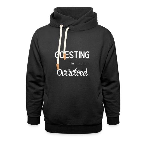 Goesting in overvloed wit - Unisex sjaalkraag hoodie