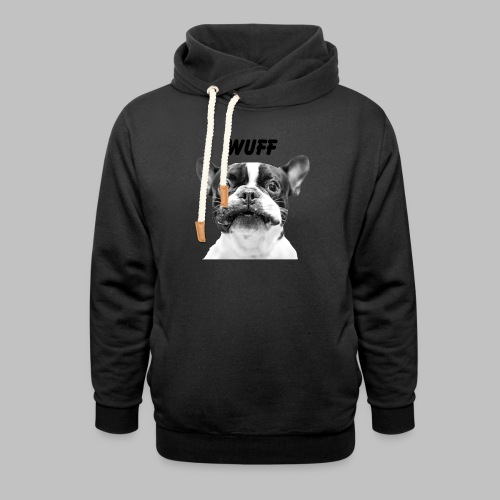 Wuff - Hundeblick - Hundemotiv Hundekopf - Unisex Schalkragen Hoodie