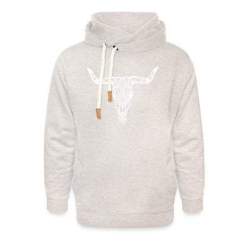 LaBestiaWhiteLogo png - Unisex sjaalkraag hoodie